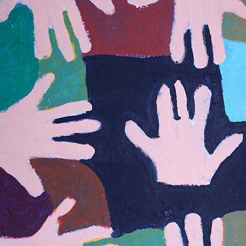 Eve McCoy - Painting of hands together.